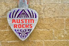 Austin Rocks sign Royalty Free Stock Images