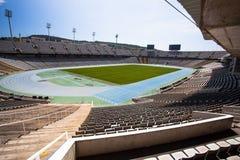 27 December 2016, Barcelona av Spanien: Sikt av Olympic Stadium i Barcelona av Spanien Royaltyfria Bilder