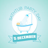 5 december  Bathtub Party Day Stock Photos