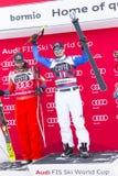 28 December 2017 - Bormio Italy - Audi FIS Ski World Cup. Bormio Italy 12/28/2017: pictures of the freeride ski world championship. The winner was the Italian Stock Images