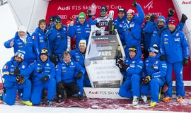 28 December 2017 - Bormio Italy - Audi FIS Ski World Cup Stock Photography