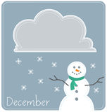 December Calendar Background Stock Photography