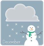 December Calendar Background. A December calendar for use as a background or wallpaper Stock Photography