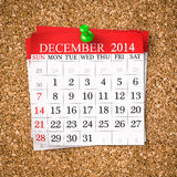 December 2014  Calendar Royalty Free Stock Photos