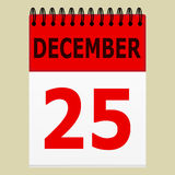 December 25 on the calendar Royalty Free Stock Photos