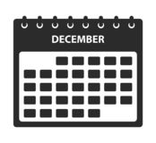 December Calendar Icon. stock illustration