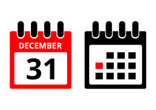 31 December calendar icon. Vector illustration - 31 December calendar ico Stock Images