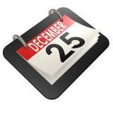 December 25 calendar Stock Image