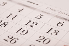 December on calendar isolated Royalty Free Stock Images