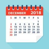 December 2018 Calendar Leaf - Illustration Stock Photo