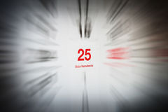 December 25 in the calendar Royalty Free Stock Photography