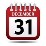 December 31 calendar page Stock Photo