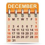 December calendar of 2018 year -. December calendar of 2018 year – stock Royalty Free Illustration