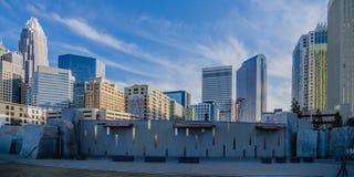 27 december, 2013, Charlotte, nc - mening van de horizon van Charlotte bij Stock Afbeelding
