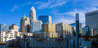 December 27, 2013, charlotte, nc - view of charlotte skyline at Royalty Free Stock Photo