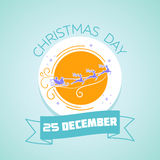 25 December Christmas Day. Calendar for each day on December 25. Greeting card. Holiday - Christmas Day. Icon in the linear style Stock Photography