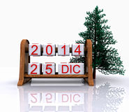 December 25, 2014. Christmas Day - 3D Royalty Free Stock Images