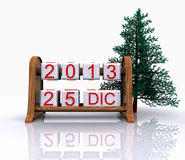 December 25, 2013 Royalty Free Stock Images