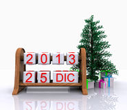 December 25, 2013. Christmas Day - 3D Royalty Free Stock Images