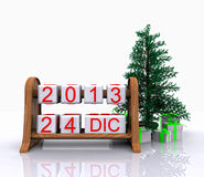 December 24, 2013. Christmas Day - 3D Royalty Free Stock Image
