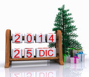 December 25, 2014. Christmas Day - 3D Stock Photography