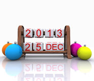 December 25, 2013. Christmas Day - 3D Stock Images