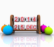 December 25, 2013. Christmas Day - 3D Royalty Free Stock Photography