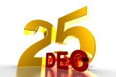 December 25 3D. royalty free illustration