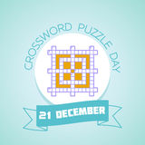21 December Crossword Puzzle Day Stock Images