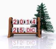 25 december, 2014 Royalty-vrije Stock Afbeeldingen