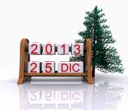 25 december, 2013 Royalty-vrije Stock Afbeeldingen