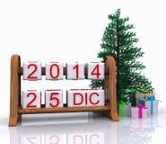 25 december, 2014 stock illustratie