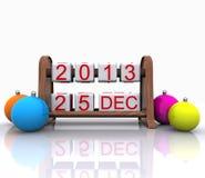 25 december, 2013 Stock Afbeeldingen