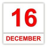 16 december Dag op de kalender Royalty-vrije Stock Afbeeldingen