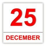 25 december Dag op de kalender Royalty-vrije Stock Fotografie