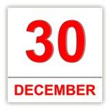 30 december Dag op de kalender Royalty-vrije Stock Afbeelding