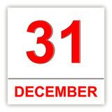 31 december Dag op de kalender Stock Fotografie