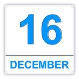 16 december Dag op de kalender Stock Foto