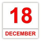 December 18 Dag på kalendern Stock Illustrationer