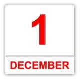 December 1. Day on the calendar. Stock Image