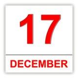 December 17. Day on the calendar. Stock Photos