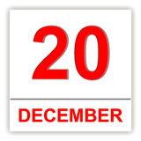 December 20. Day on the calendar. Royalty Free Stock Photography
