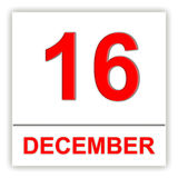December 16. Day on the calendar. Royalty Free Stock Images
