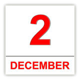 December 2. Day on the calendar. Stock Image
