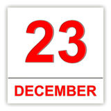 December 23. Day on the calendar. Royalty Free Stock Image