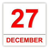December 27. Day on the calendar. Royalty Free Stock Image