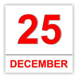 December 25. Day on the calendar. Royalty Free Stock Photography