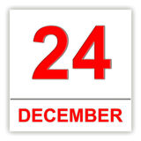 December 24. Day on the calendar. Stock Images