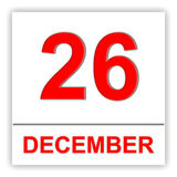 December 26. Day on the calendar. Royalty Free Stock Images