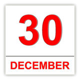 December 30. Day on the calendar. Royalty Free Stock Image